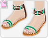 [Y] Twins Green Sandals