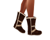 Brown Velour Snow Boots