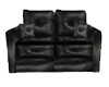2 LEATHER BLCK COUCH