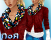 *NoA*2 Tops + Scarf Red