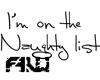 [AW] Naughty List sign