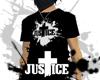 JUSTICE™ Logo Tee Black