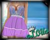 .L. Mermaid Dress Purple
