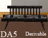 (A) Wood Back Sofa