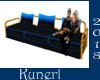 *K*Blue Sofa 3 seat
