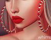 Baby Red Earrings