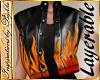 I~Kid Lthr Flame Vest