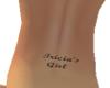 Tricia's Girl Back Tat