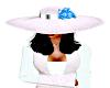 white lace hat