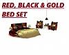 RED,BLACK &GOLD BED SET