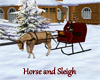 (20D) horse and sleigh