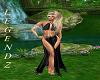 Bloom Black Gown