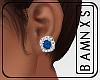 [BAM] Diamond Studs-Blue