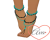 Feet Jewels Blue/Black