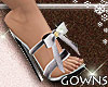 Heels - silver bow