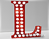 H. Marquee Letter Red L