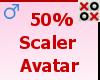50% Scaler Avatar - M