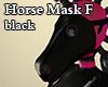 Horse Mask F black