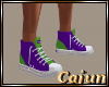 Purple & Green Sneakers