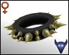 Spiky gold collar (f)