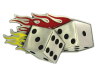 Flame Dice Right