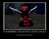 vampire coat sleeveless