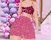 Skirt Glitter pink