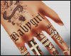 Female Hand Tats Silver