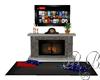 Cape cod TV Fireplace
