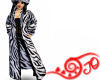Zebra Fur Trench Coat