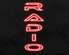Radio neon red