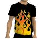 Flame Baggy T Shirt