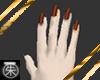 }T{ orange n black nails