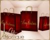 {liz} Christmas bag red