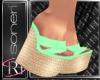 Mimi green sandals