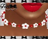 Red White Flower Choker