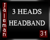 3 H Head band Mesh