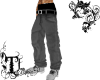 TJz black baggy jeans