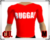 BUGGA! red t-shirt Male