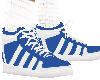 Blue tennis shoe/socks
