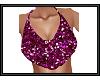 {G} Pink Glitter Top