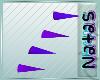 purple back spikes M/F