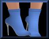 High Heel Booties Blue
