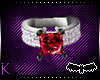 [k] Red and Silver Ring