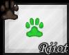 !R; Paw Sticker Green