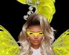Mardi Gras Yellow Mask