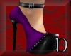purple & black shoes