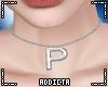 *A* P Letter Necklace