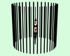 Round Cage Bars Black