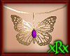 Butterfly Necklace Purp